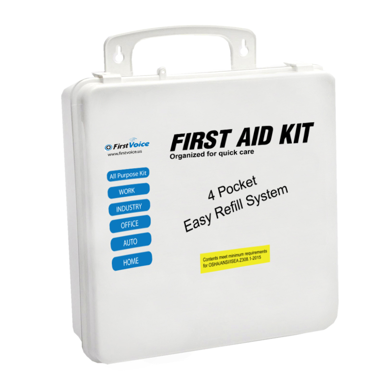25-50 Person Class A ANSI First Aid Kit - Metal case